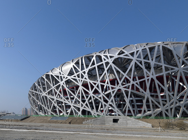 Beijing, China - February 2, 2008: The Olympic Stadium