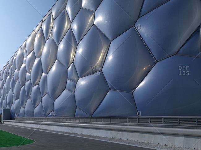 Beijing, China - February 2, 2008: Exterior of Beijing National Aquatics Center