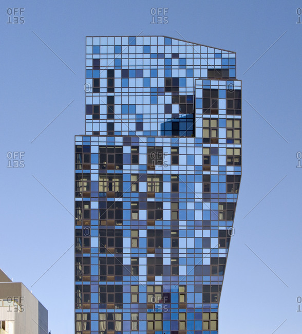 New York, NY,  USA - October 10, 2008: Bernard Tschum's Blue Tower  in Lower East Side