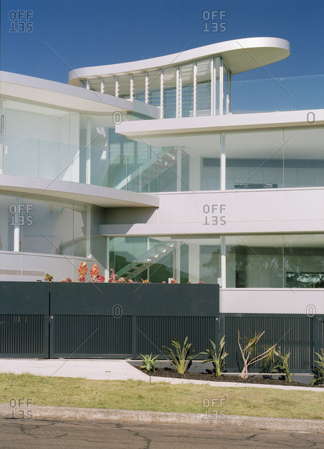 Vanduse, Australia - September 4, 2005: Exterior of very modern home