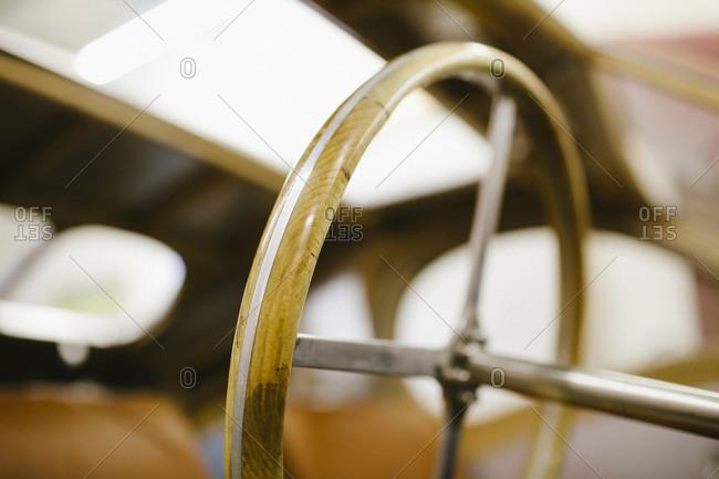 Steering wheel of a homemade car