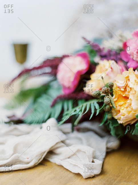 Flower arrangement close up