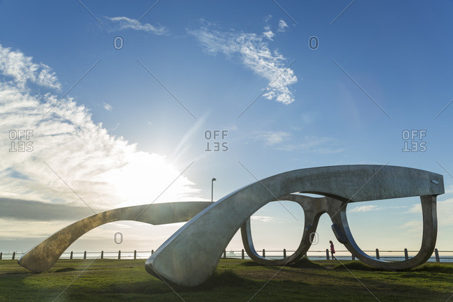 """Cape Town, South Africa - April 13, 2015: """"Perceiving Freedom"""" sculpture in honor of Nelson Mandela"""