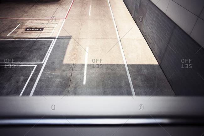 Empty parking garage at airport