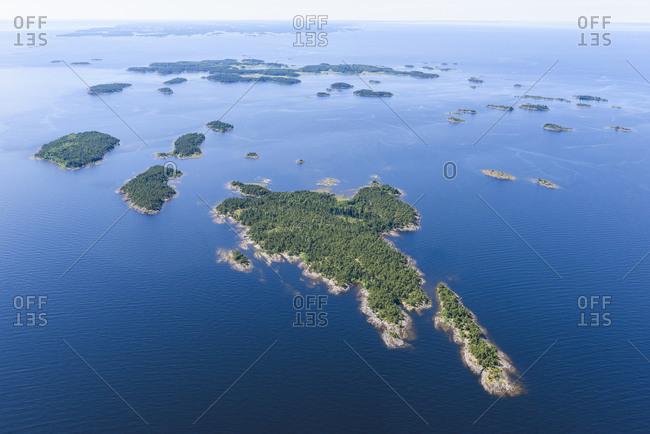 Aerial view of islands, Vanern
