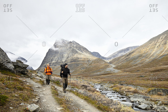 Couple hiking, Jamtland
