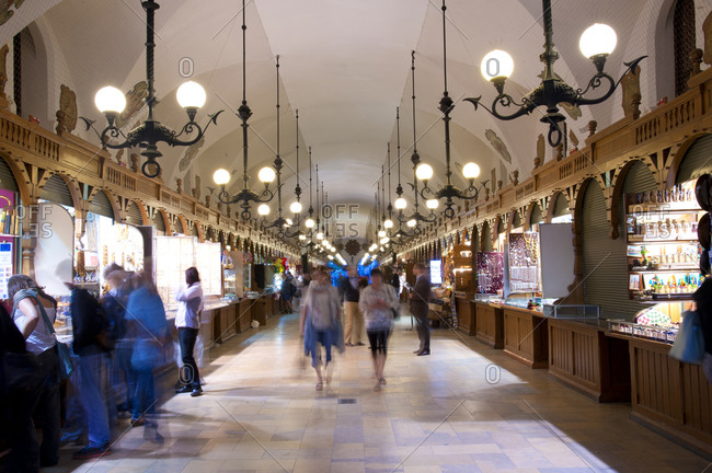 Shopping mall in Old Town, Krakow, Poland