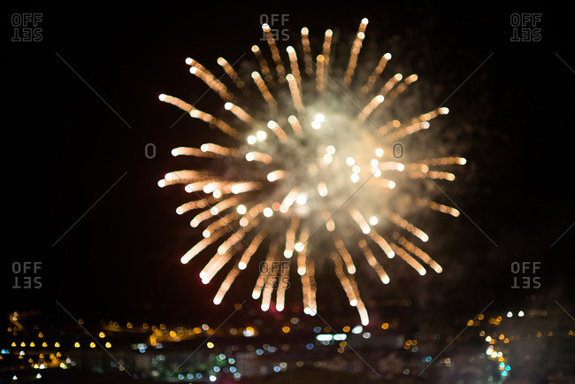 Blurred fireworks