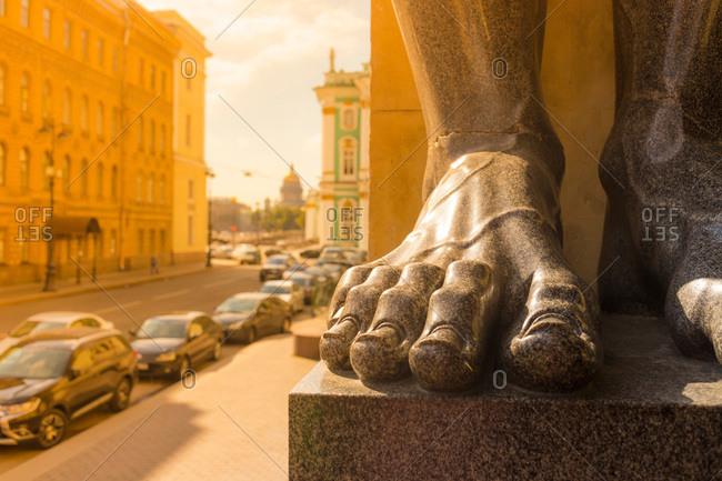 Detail of statue at Hermitage Museum, Saint Petersburg