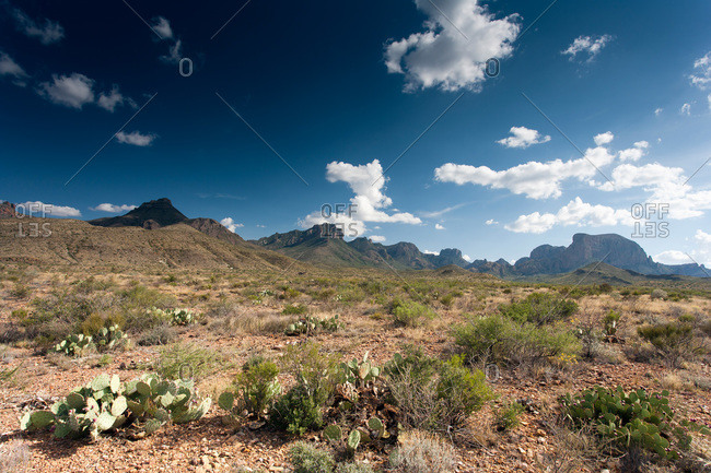 Mountains and barren landscape, Texas