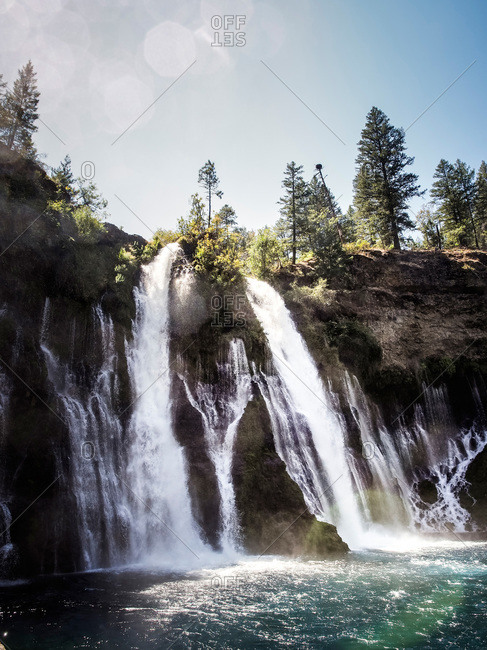 Waterfall in McArthur-Burney Falls Memorial State Park, California