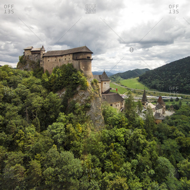 Orava Castle in Oravsky Podzamok, Slovakia