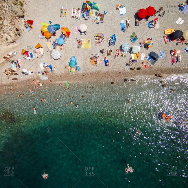 Beach on the Adriatic Sea in Senj, Croatia