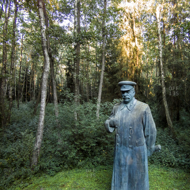 Druskininkai, Lithuania - August 5, 2015: Statue of Joseph Stalin in Grutas Park