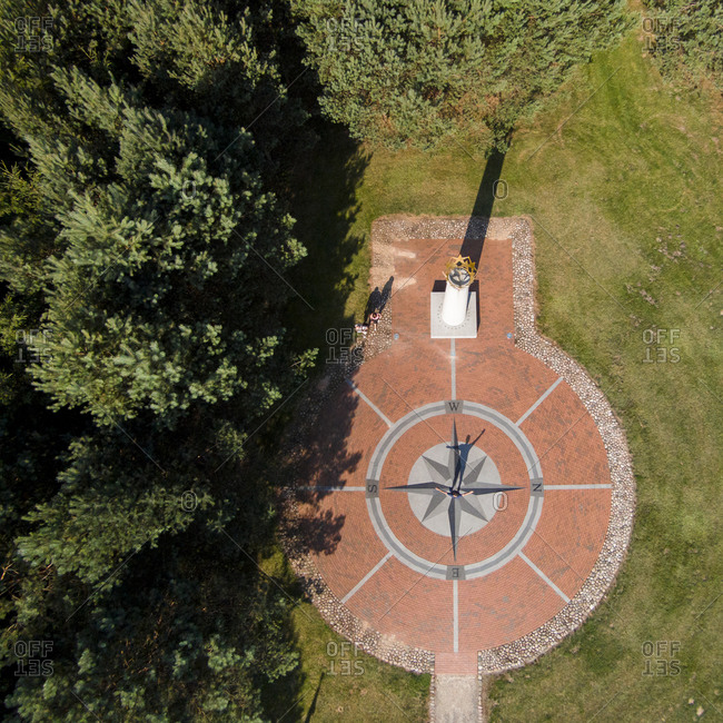 Geographical center of Europe monument in Purnuskes, Lithuania