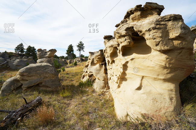 Large eroded rock formations