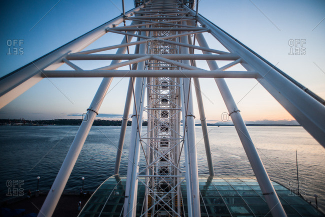 Ferris wheel on waterfront pier