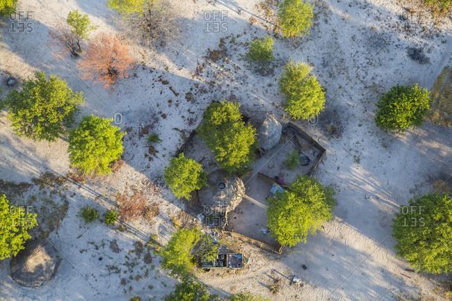 Huts, Okavango Delta, Botswana, Africa