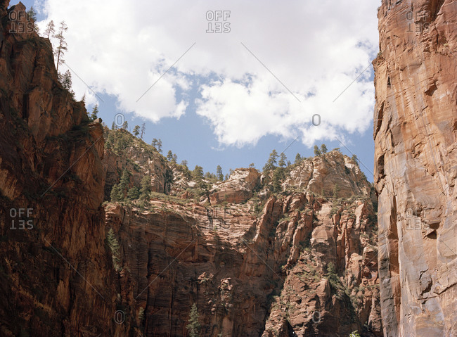 View of Zion Canyon in Zion National Park, Utah