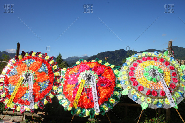 Funeral offerings in rural China