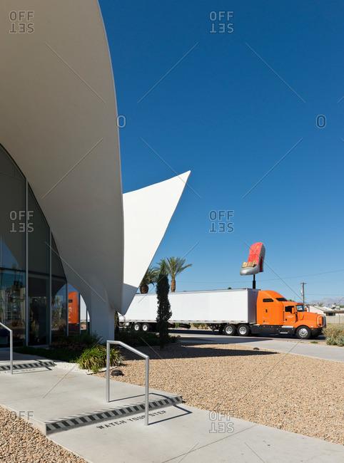 Las Vegas, Nevada - April 14, 2014: Exterior of the Neon Museum