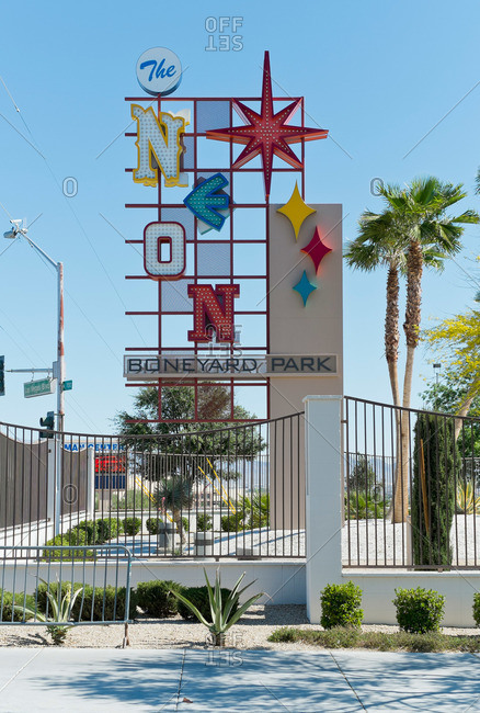 Las Vegas, Nevada - April 14, 2014: Sign for the Neon Museum