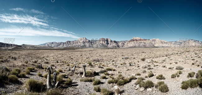 Panoramic view of Red Rock Canyon park