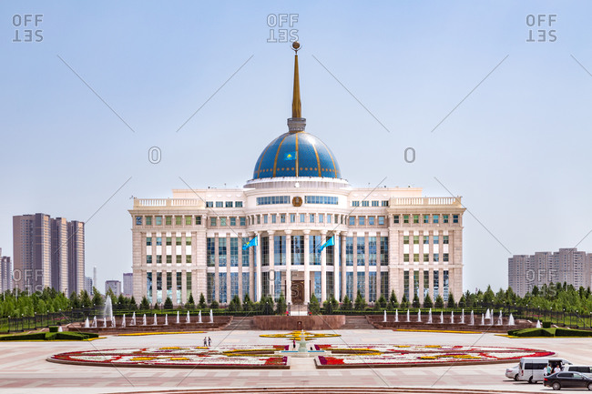 Astana, Kazakhstan - July 18, 2015: Presidential Palace in Astana, Kazakhstan