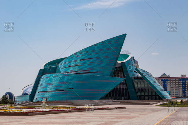 Astana, Kazakhstan - July 18, 2015: Central Concert Hall in Astana, Kazakhstan