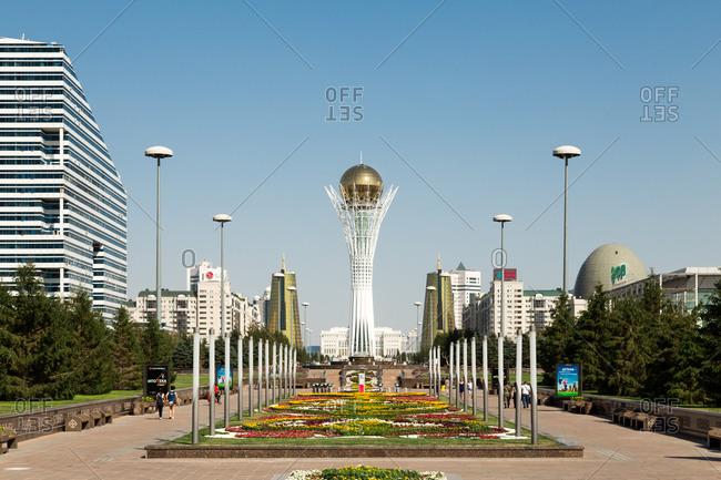 Astana, Kazakhstan - July 18, 2015: Bayterek monument in Astana, Kazakhstan