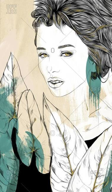 Beautiful woman with hazel eyes
