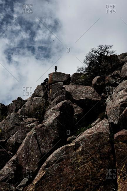 Hiker exploring the Wichita Mountains in Oklahoma