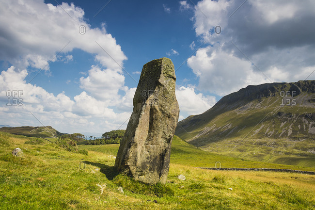 Standing stone in Snowdonia, Wales