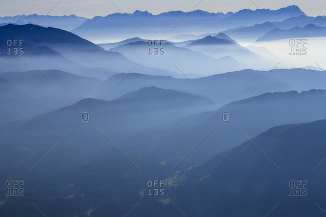 Zugspitze and Wetterstein mountains