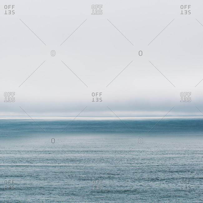 Calm sea extending out to horizon