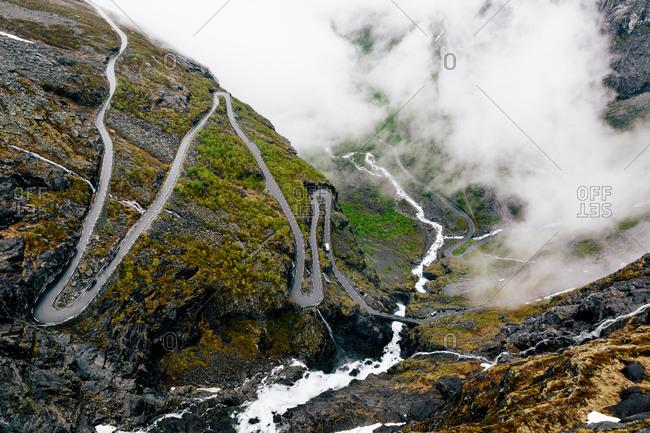 Road snaking through Norwegian wilderness