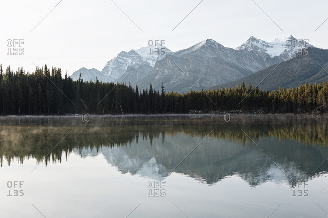 Pristine wilderness reflected in lake