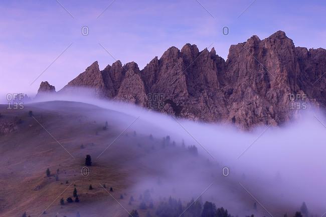 Foggy Landscape, Dolomites, Italy