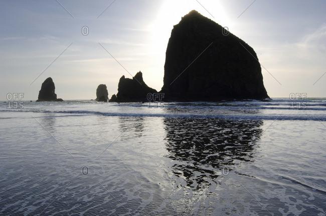 Cannon Beach at Dusk, Oregon, USA
