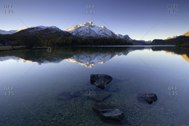Lake Silser, Engadin, Switzerland