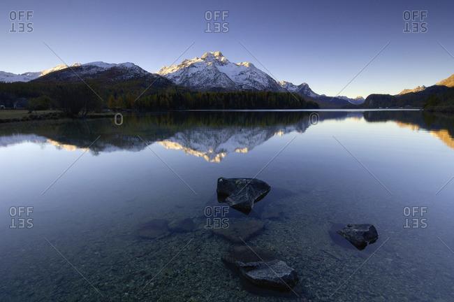 Lake Silser, Engadin, Switzerland