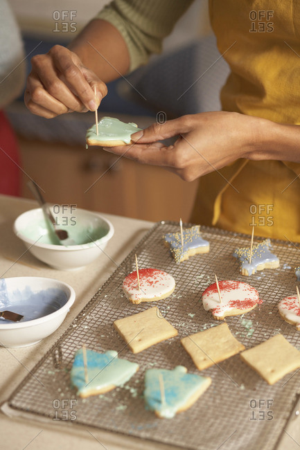 Woman Icing Cookies