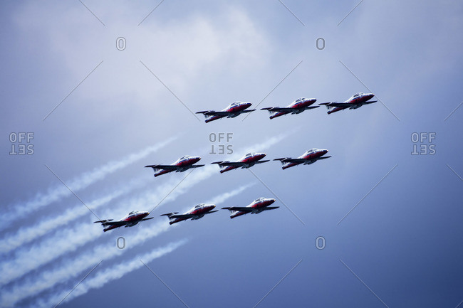 Snowbirds Performing at Air Show
