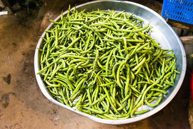Fresh beans in Vietnamese market