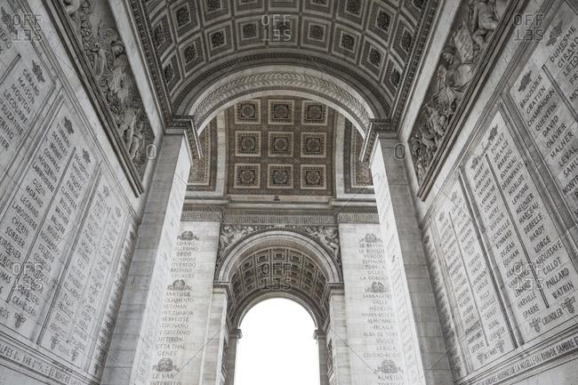 Under the Arc de Triomphe, Paris, France