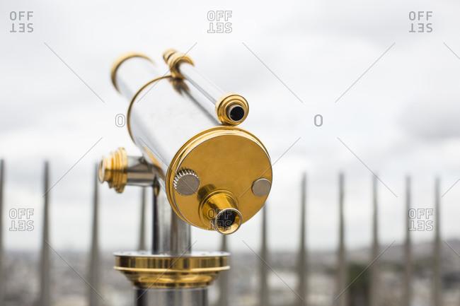 Viewing telescope in Paris, France
