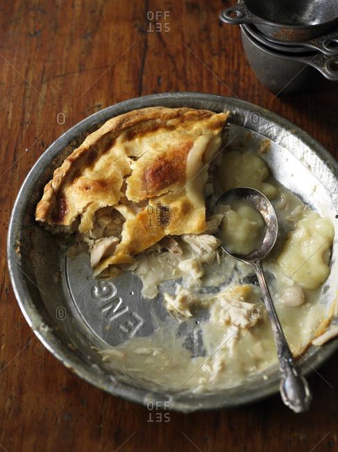 Mostly eaten chicken pot pie