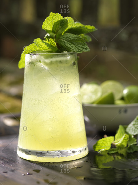 Mojito ready to be served