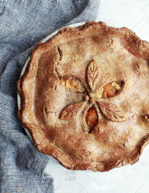Fresh cooked savory pie