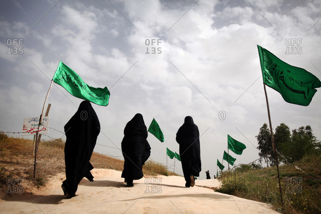 Iranian women on the border of Iran and Iraq, Ahwaz, Iran